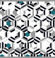 abstract blue color hexagon pattern design vector image vector image