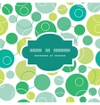 abstract green circles frame seamless pattern vector image vector image