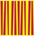 abstract vertical striped pattern yellow and red vector image