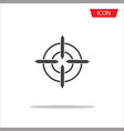 aim icon target symbols isolated on white vector image