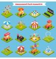 Amusement Park Isometric vector image vector image