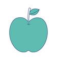 apple fruit fresh food health icon vector image vector image