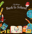 back to school poster welcome colorful template vector image
