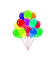 balloons party multicolored isolated on white vector image vector image
