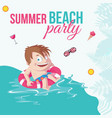 banner design of summer beach party vector image