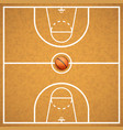 basketball court with a ball vector image