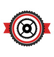 bicycle gears emblem icon vector image