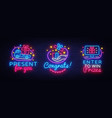 big collectin neon signs prizes gift neon banner vector image