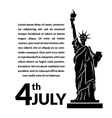 Black and white of independence day USA vector image