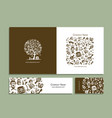 business cards with bathhouse design elements vector image vector image