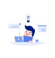 businessman working in office vector image vector image