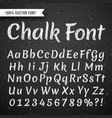 Chalk white calligraphy letters writing