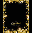 christmas and new year gold star frame card vector image vector image