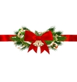 Christmas ribbon decoration EPS 10 vector image vector image