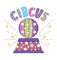 circus stage with plastic balloon vector image