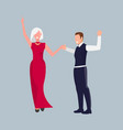 couple dancing at party vector image