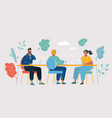 coworking space with creative people vector image