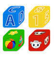 cubes for kids vector image