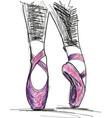 dance ballerina ballet shoes vector image