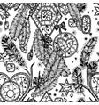 dream catcher boho style seamless pattern vector image