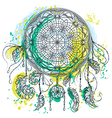 dream catcher with ornament vector image vector image