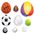 egg shaped sport balls vector image vector image