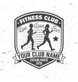 fitness club badge vector image