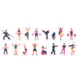 fitness sport activities people activity training vector image