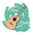 guitar rock music-05 vector image vector image