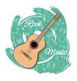 guitar rock music-05 vector image