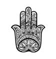 hamsa hand drawn symbol decorative amulet vector image vector image