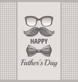 happy father s day vintage card cute poster with vector image