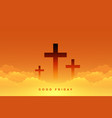 heavenly sence good friday with cross symbols vector image vector image