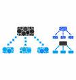 hierarchy scheme mosaic icon round dots vector image vector image