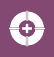 icon lifebuoy with cross vector image vector image
