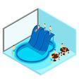 Indoor Water Park vector image vector image