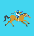 jockey riding race horse number 2 vector image vector image