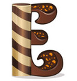 letter e candies chocolate vector image vector image