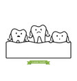 loose tooth - tooth is fall out gum vector image vector image