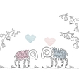 love postcard cute sheep Doodle vector image vector image