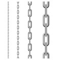 metallic chain seamless chain isolated on white vector image vector image