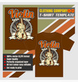 mock up clothing company t-shirt templatethe vector image