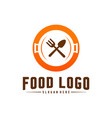modern minimalist logo food cooking logo vector image