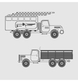 monochrome icon set with special purpose vehicle vector image vector image
