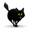 nice black cat vector image