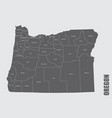 oregon state counties map vector image vector image