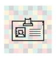 pixel icon badge on a square background vector image vector image