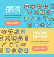 printing signs banner horizontal set vector image vector image