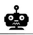 robot emotion icon design vector image