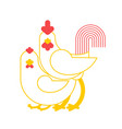 rooster and chicken pairing farmers bird breeding vector image